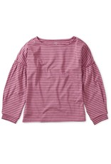 Tea Collection Striped Bishop Sleeve Top