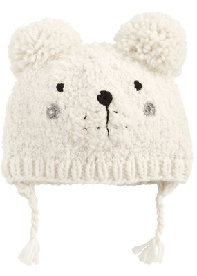 Mud Pie White Bear Knitted Hat