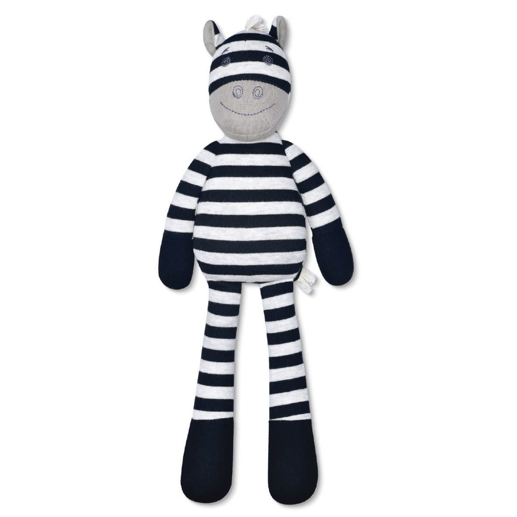 Apple Park Ziggy Zebra Plush Toy