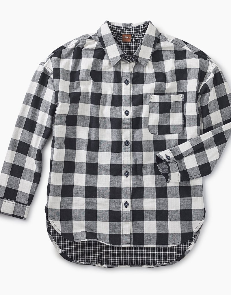 Tea Collection Double Weave Shirt Checkered Plaid