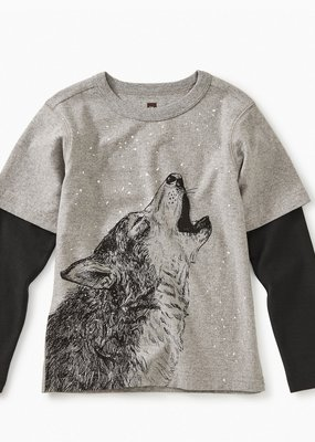 Tea Collection Husky Howl Layered Tee