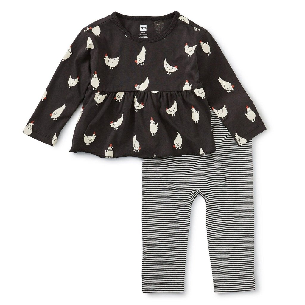 Tea Collection Cluck Cluck Baby Set