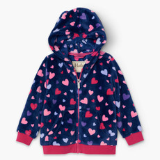 Hatley Poseidon Confetti Hearts Fleece Jacket