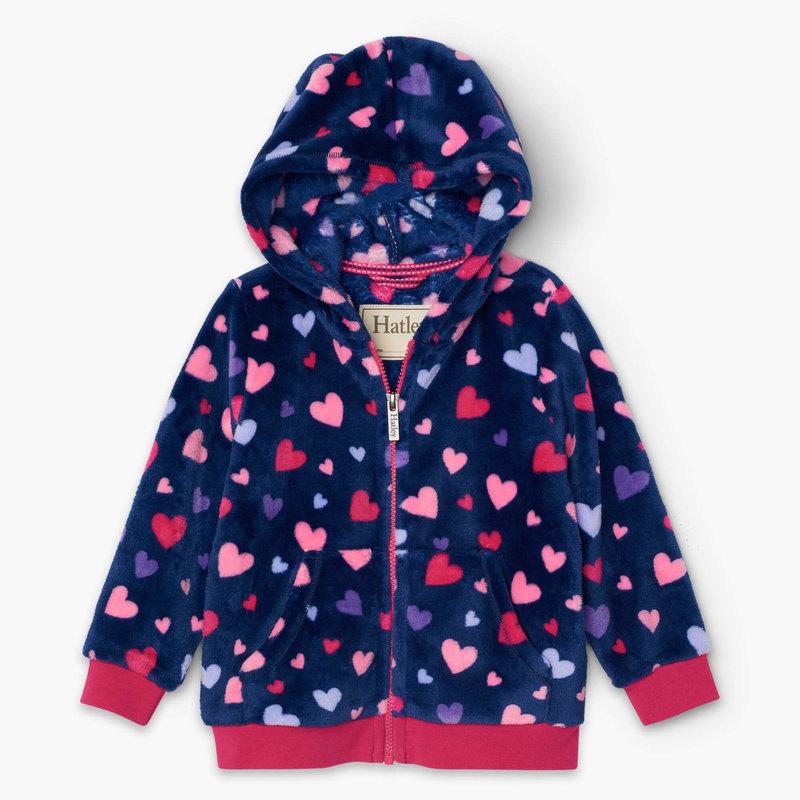 Hatley Poseidon Confetti Hearts Fleece Jacket