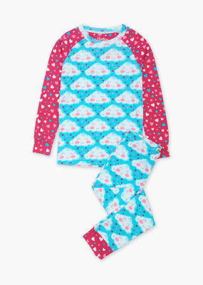 Hatley Blue Radiance Cheerful Cloud Pajamas