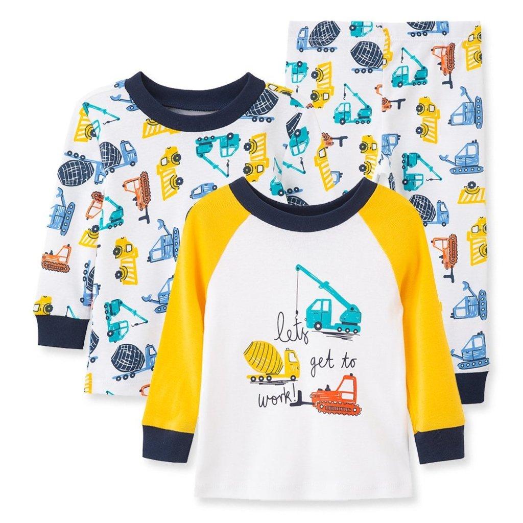 Little Me Construction 3PC PJ Baby set