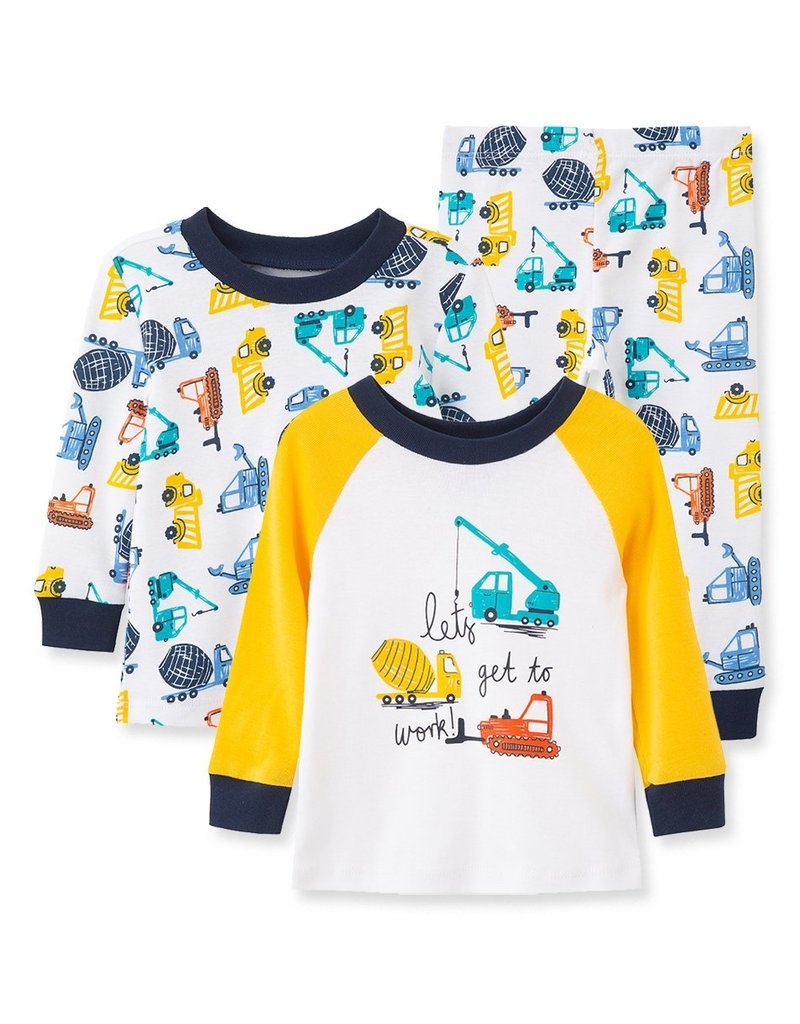 Little Me Construction 3PC PJ Baby set