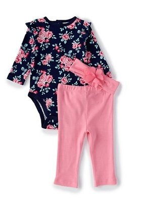 Little Me Roses Bodysuit Outfit