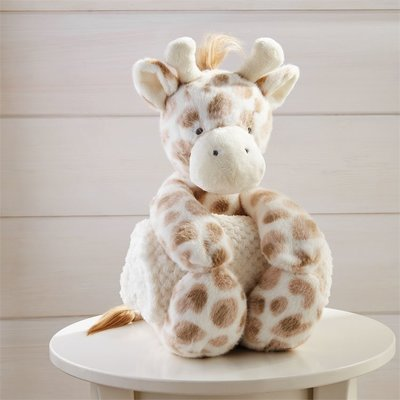 Mud Pie Giraffe Plush with Blanket
