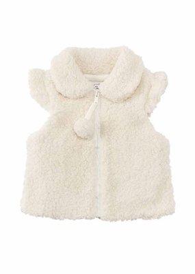 Mud Pie Ivory Fleece Vest