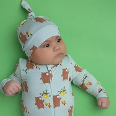 Angel Dear Baby Bears Zipper Footie