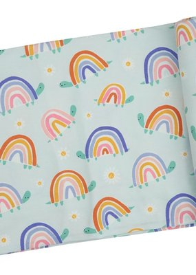 Angel Dear Rainbow Turtles Swaddle Blanket