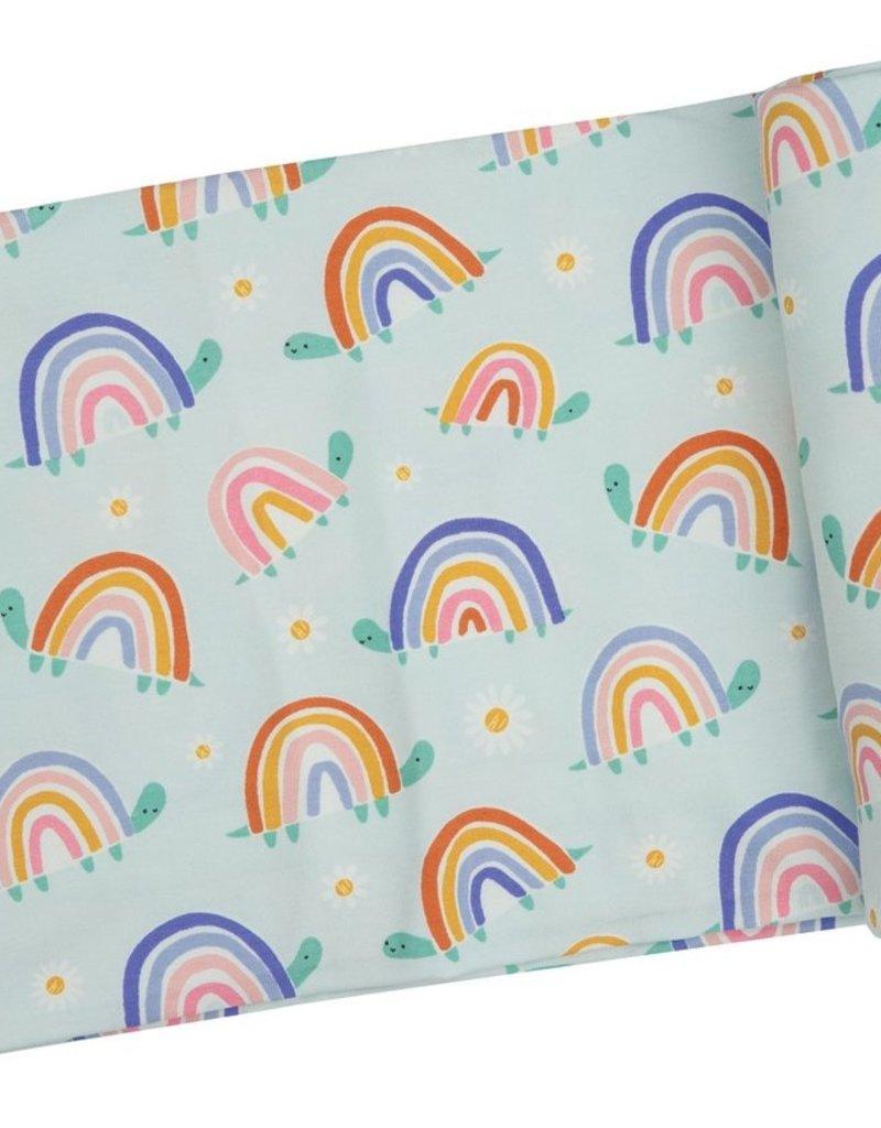 Angel Dear Rainbow Turtles Swaddle Blanket
