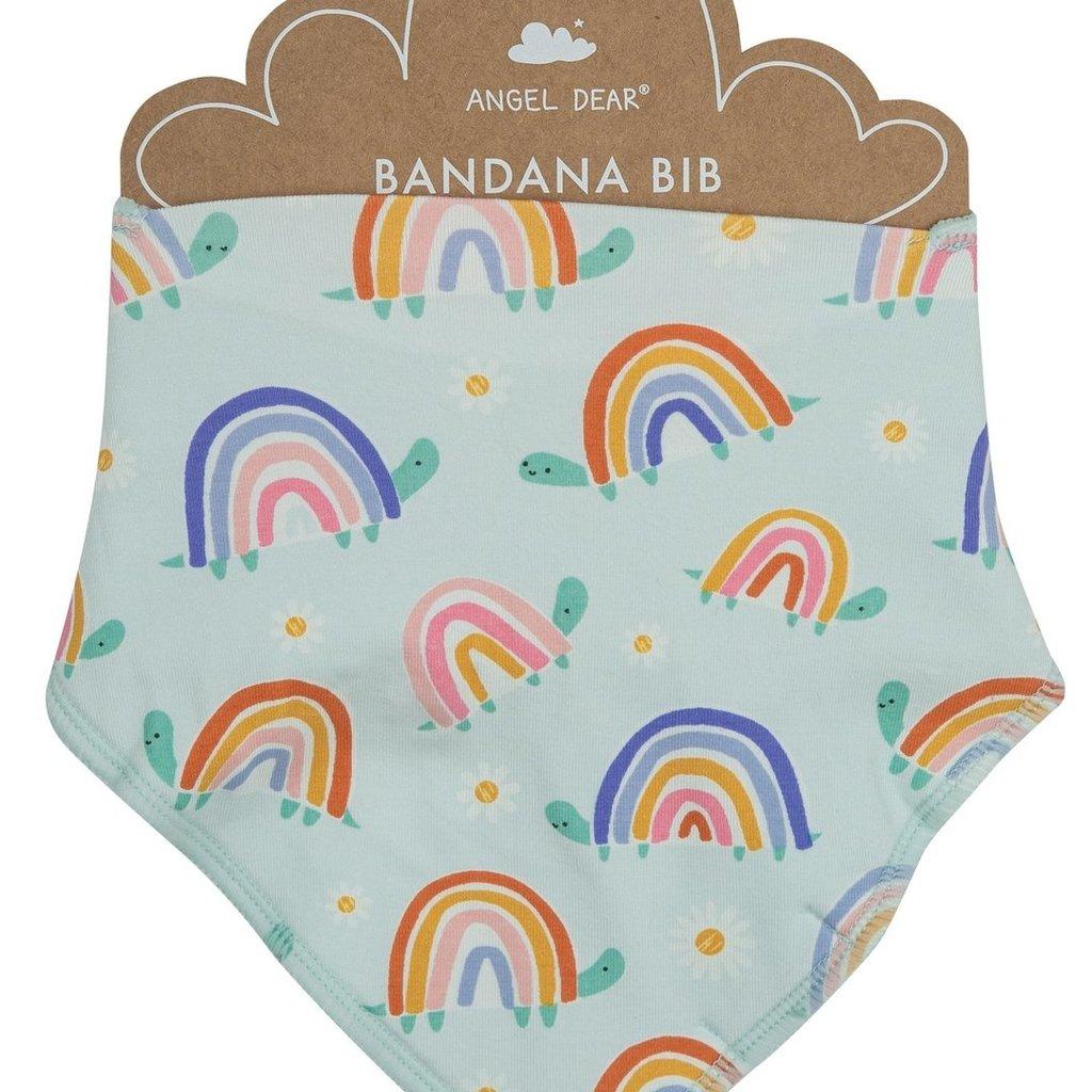 Angel Dear Rainbow Turtles Bandana Bib