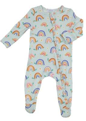 Angel Dear Rainbow Turtles Zipper Footie