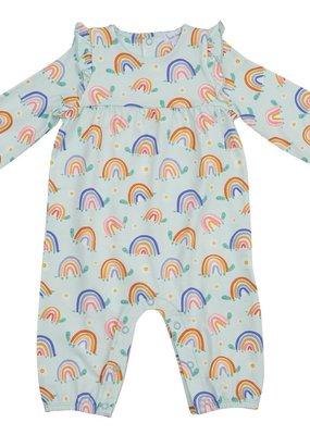 Angel Dear Rainbow Turtles Ruffle Sleeve Romper