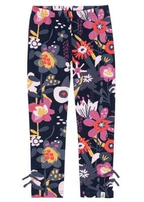 Deux Par Deux Floral Leggings with ankle ties