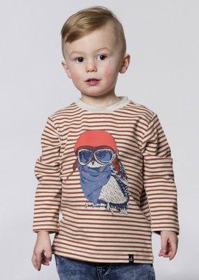 Deux Par Deux Glazed Ginger Owl Aviator Shirt