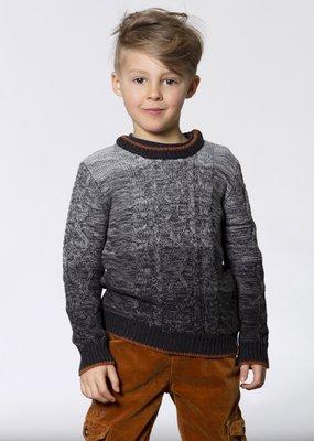 Deux Par Deux Ombre Cable Knit Sweater