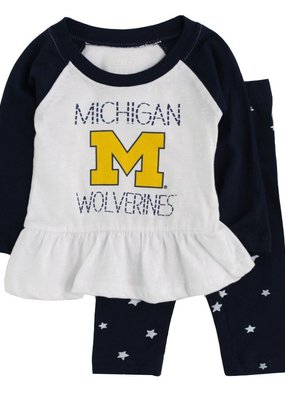 Wes and Willy Michigan Raglan Tee and Star Leggings