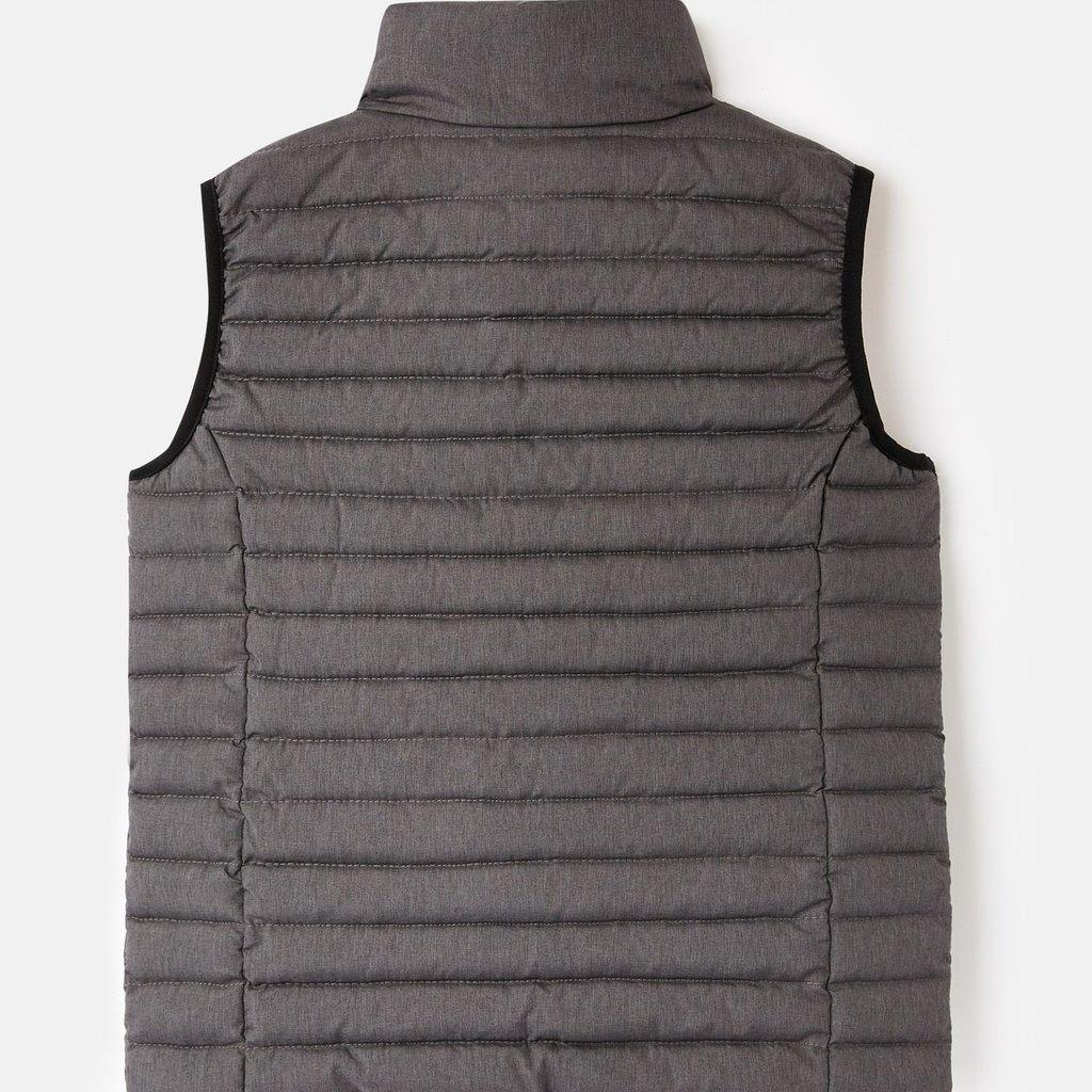 Joules Charcoal Orange Zipper Vest