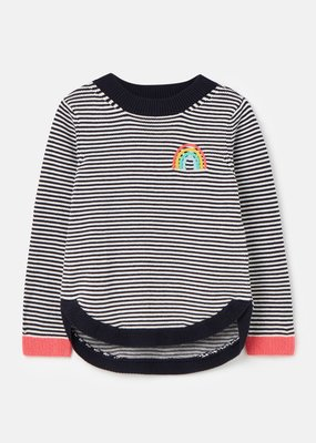 Joules Navy Stripe Rainbow Sweater