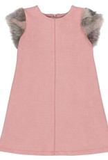 Deux Par Deux Faux Suede and Fur Dress