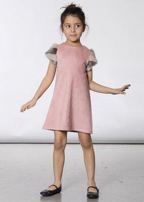 Deux Par Deux Faux Suede and Fur Dress