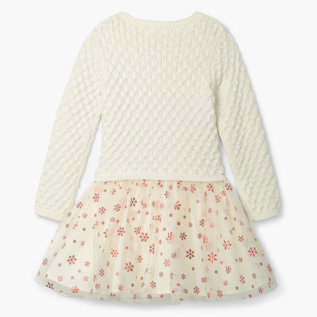 Hatley Metallic Snowflake Holiday Tulle Dress