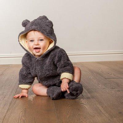 Magnificent Baby Bears Steel Fleece Hooded Jacket