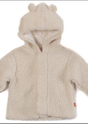 Magnificent Baby Bears Cream Fleece Hooded Jacket