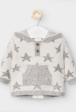 Mayoral USA Hooded Star Sweater with back zipper