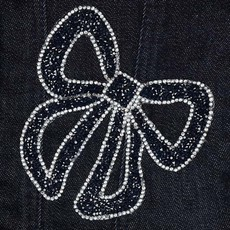 Mayoral USA Glitter Bow Jean Jacket