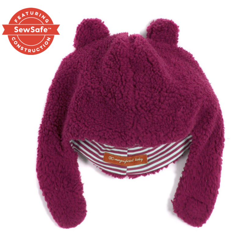 Magnificent Baby Raspberry Bears Fleece Hat