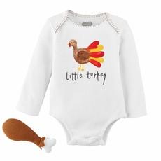 Mud Pie Turkey Knit Rattle Gift Set