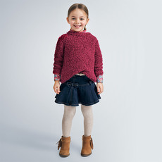 Mayoral USA Flare Bow Denim Skirt