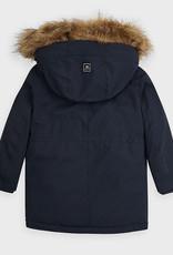 Mayoral USA Faux Fur Navy Parka Jacket