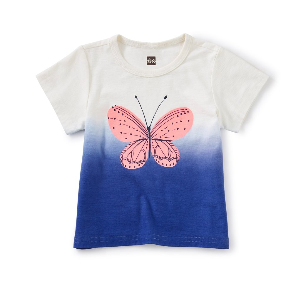 Tea Collection Butterfly Dip-Dye Graphic Tee