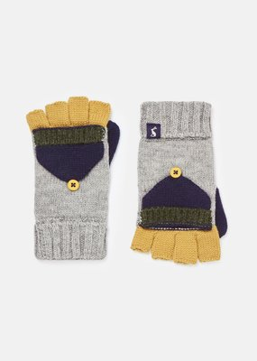 Joules Millway Ribbed Knit Converter Mittens