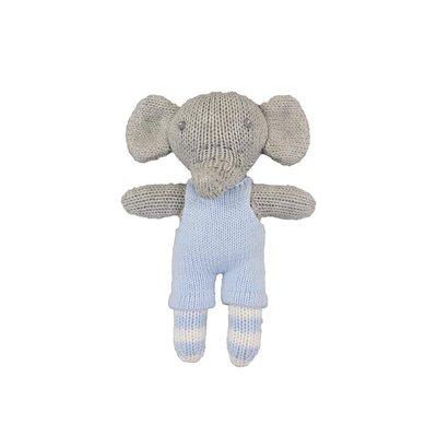 "Zubels Blue Elephant 7"" Knit Doll"