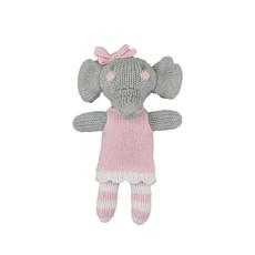 "Zubels Pink Elephant 7"" Knit Doll"