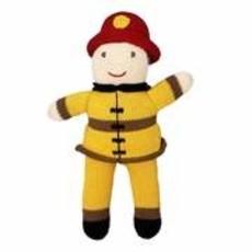 "Zubels Fireman 7"" Knit Doll"