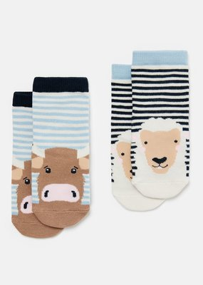 Joules Cow Sheep Character Socks