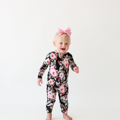 Posh Peanut Milana Ruffled Zipper Footie