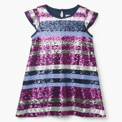 Hatley Sequin Stripe Party Dress