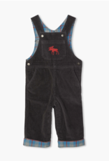 Hatley Moose Grey Stretch Cord Overalls