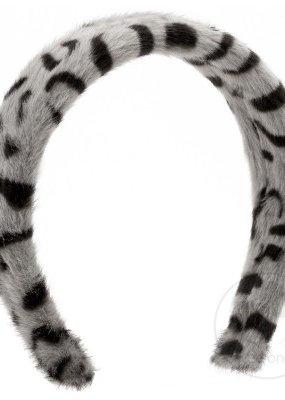 Wee Ones White Leopard Faux Fur headband