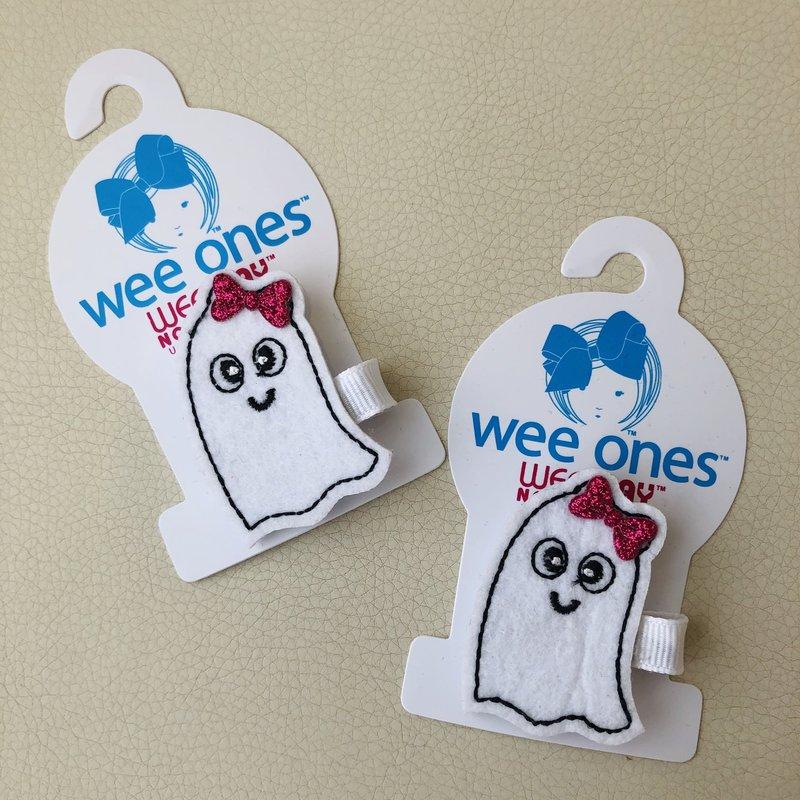 Wee Ones Halloween Ghost Bow