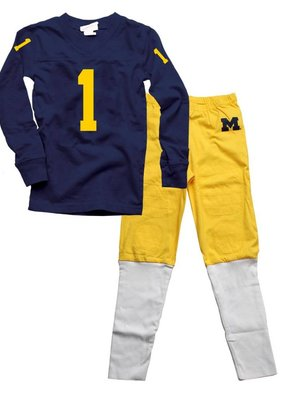 Wes and Willy Michigan UNIFORM Pajama