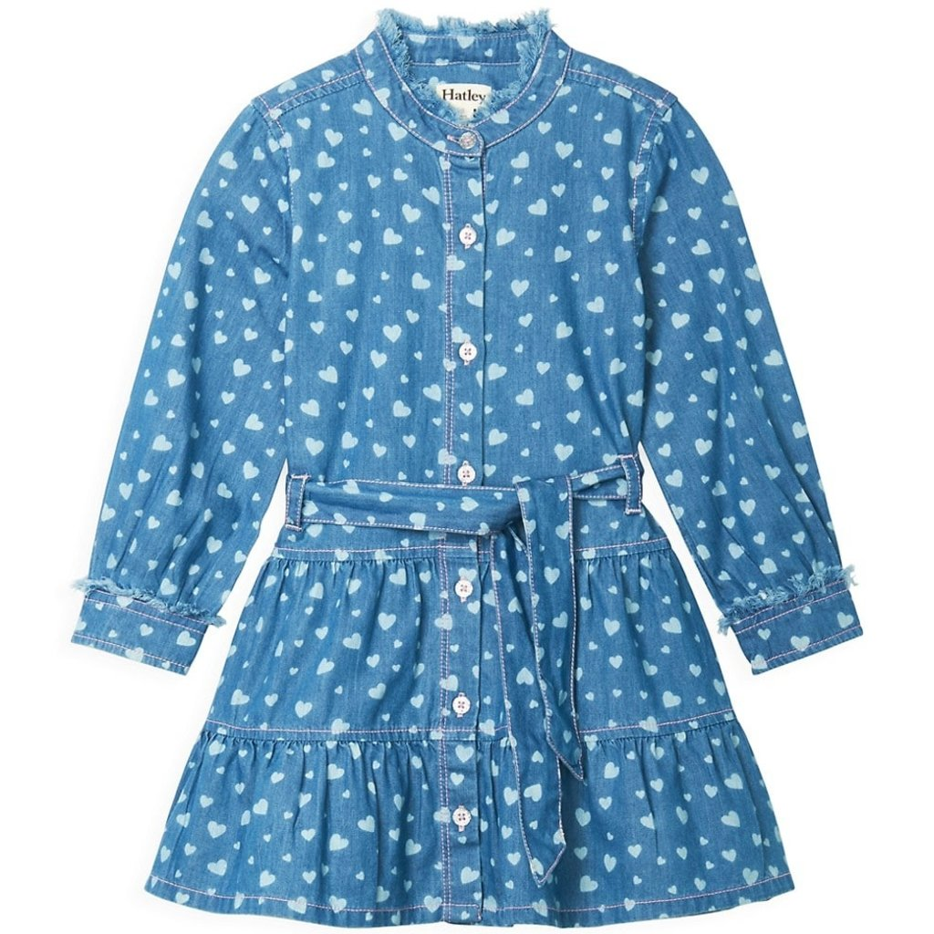 Hatley Denim Heart Button Down Dress